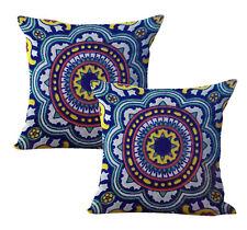 Us Seller-2pcs Mexican Spanish talavera cushion cover decorative pillows