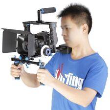 Pro DSLR Video Film Stabilizer Kit Rod Rig Cage+Handle Grip+Follow Focus US SHIP