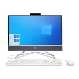 "NEW HP 22-DF0013W 22"" ALL-IN-ONE COMPUTER INTEL 3.3GHz 4GB 256GB SSD WIFI DVDRW"