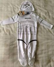 Boys Star Wars Stormtrooper All In One/Babygrow/Playsuit/Fancy Dress Costume 0-3