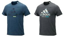 Adidas Men B Logo Shirts S/S Training Charcoal Jersey Tee Casual Shirt Dv2494