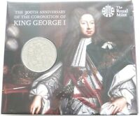 2014 Royal Mint King George I 300th Anniversary BU £5 Five Pound Coin Pack