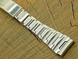 Timex Vintage Watch Band Stainless Steel Deployment 17.5mm Bracelet NOS Unused