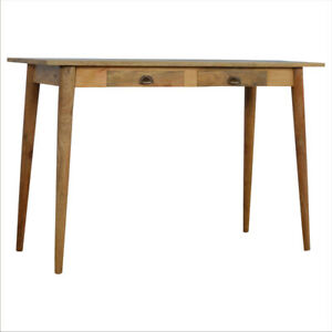 Nordic Style Solid Wood Writing Desk with 2 Drawers H80 x W120 x D46 cm