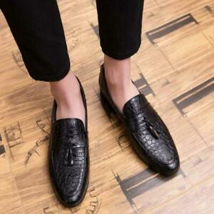 Mens Formal Tassels Dress Shoes Business Tassel Loafers Slip On Pumps Plus Size