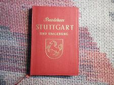 Baedekers Stuttgart und Umgebung von 1955 mit Karte