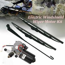 """18"""" UTV 12V Electric Windshield Wiper Motor Kit for Honda Polaris Ranger RZR New"""