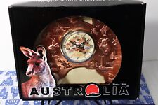 NEW! Realaus Australia Map KItchy Copper Clock Kangaroo, Koala, Wombat, Cities
