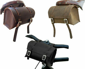 Bicycle Seat Bag Vintage Bike Saddle Tail Bag Pannier Cycling Pouch Leather AU