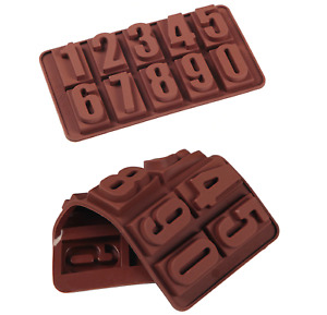 3D Silicone Numéro Forme 1 - 10 Cuisson Chocolat Moule Cire Fondre Artisanat