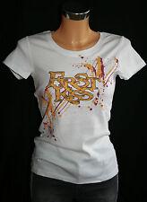 """""""Flashlights""""Damen Shirt Baumwolle T-Shirt kurzarm weiß Druck 32/34,XS neu"""