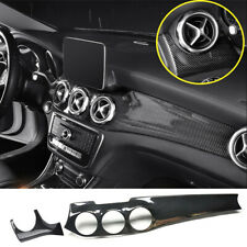 ABS Center Console Dashboard Panel Trim For Benz GLA X156 CLA W117 Class 2013-19