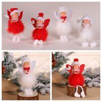 Festival Tabletop Furnishing Xmas Tree Plush Doll Christmas Ornament Angel-
