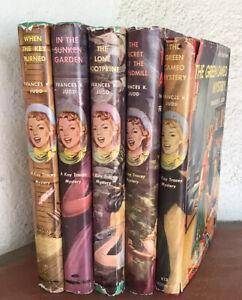 Lot 5 Kay Tracey Mystery Books Frances K. Judd HB/DJ 1940's-1950's Teen Mystery