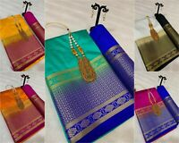 pakistani saree Tussar silk Bollywood indian designer sari ethnic traditional KK