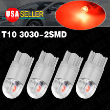 4X Pure Red T10 3030LED High Power Dome Map Interior Light Bulb W5W 192 194 2825