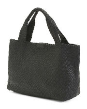 Falor HandBag Woven Black Leather I