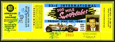 1 1969 INDIANAPOLIS INDY 500 AUTO RACING VINTAGE UNUSED FULL TICKET  laminated