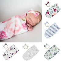 Newborn Baby Kid Blanket Swaddle Printed Sleeping Bag Sleep Sack Stroller Wrap