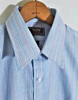 Vintage 70s 80s DEADSTOCK Arrow Dover Striped Men's Shirt Button Down USA 15.5 M