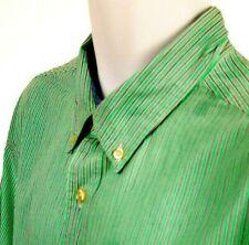 "Chaps Mens Green short sleeve Stripe shirt with Front Pocket  XXL ""EUC"""