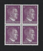 MNH  Adolph Hitler stamp block / 1941 PF06 / Original Third Reich Germany Block