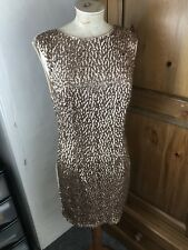 Ancient Copper Glossy NEW LOOK Evening Party Wrap Dress Size 14