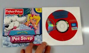 Fisher Price Pet Shop Activity PC Software Home School CD Ages 4-7 Windows Mac
