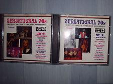 SENSATIONAL 70s Vol. 1+2, 2 CDs Original Artists Black Sabbath, T.Rex, uva. TOP!
