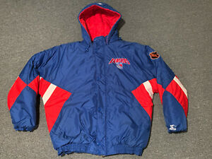 Vintage New York Rangers Starter Authentic Center Ice Collection Jacket XL NHL