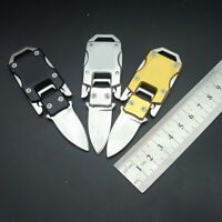 1Pc Stainless Steel Outdoor Mini Folding Knife Pocket EDC Keychain Survival Tool