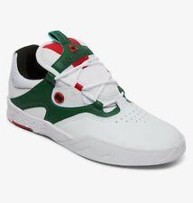 Scarpe Uomo Casual Skate DC Shoes Kalis SE Bianco White Green Schuhe Chaussures