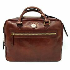 Man Woman Briefcase THE BRIDGE brown leather Italy coach bag new 064105/01