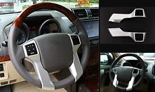 2pcs Chrome steering wheel decorative trim for Toyota Prado FJ150 2014-2016