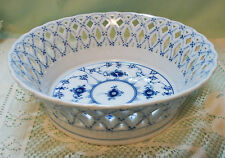 "Beautiful! Royal Copenhagen Blue FULL LACE #1054 BOWL Pierced 7 1/4"" Diameter"