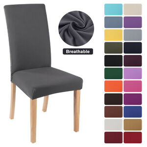 US Stretch Dining Chair Covers Slipcovers Removable Banquet Protective Cover)