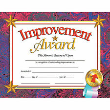 Hayes Improvement Award Certificates - Stationery - 30 Pieces