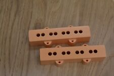 Jazz bass guitar pickup covers by Herrickpickups U.K in Communist Orange