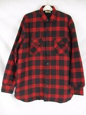 0b8ea333 Sears Mens Store Shirt Jacket Coat Red Plaid Sz 2XLT Quilt Lined Button SR93