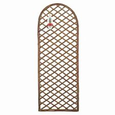 Curved Top Willow Panel 45cm x 1.2m Framed Willow Trellis Panel Curved Top