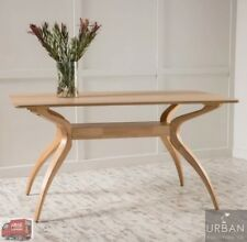 Scandinavian Oak Wood Table Curved Kitchen Mid Century Modern Retro Furniture