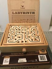 labyrinth  by cardinal vintage 1990s wooden marble game of skill