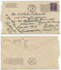 51162 - USA - Beleg - Tacoma 30.12.1932 nach Centerville Wash., bzw. Portland OR