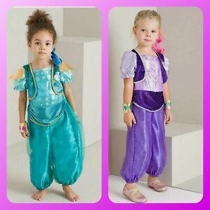 BNWT Girls Shimmer And Shine Genie Aladdin Jasmine Costume Fancy Dress