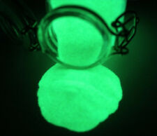 Pigment Powder GREEN Glow in the Dark 4oz, Daytime Invisible, Resin Coating, Art