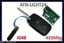 Schlüssel Transponder ID48 Sendeeinheiten 433,92 MHz für VW Passat 3B 3BG Golf 4