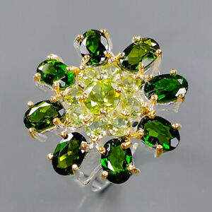 Jewelry Handmade Chrome Diopside Ring Silver 925 Sterling  Size 6.5 /R162058
