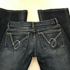 Bebe Jeans Carmen Stretch Bootcut Stitched Womens Denim Sz 25 Measures 26 X 30
