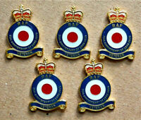 5 X 75th ANNIVERSARY OF 1939 - 1945 END W.W.2 MILITARY ENAMEL BADGE RAF VETERAN