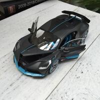 New 1/24 Maisto Bugatti Divo door & Bonnet open close car model Matt grey blue